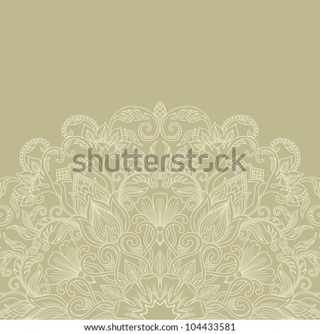 Feminine  background with floral ornament. - stock vector