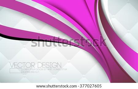 feminine elegant abstract fashion design - stock vector