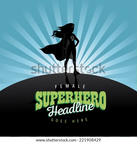 Feminist superhero burst background EPS 10 vector - stock vector