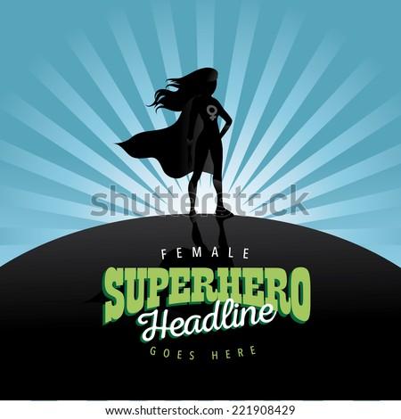 Feminist superhero burst background EPS 10 vector