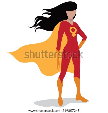Feminist superhero Eps10 vector - stock vector