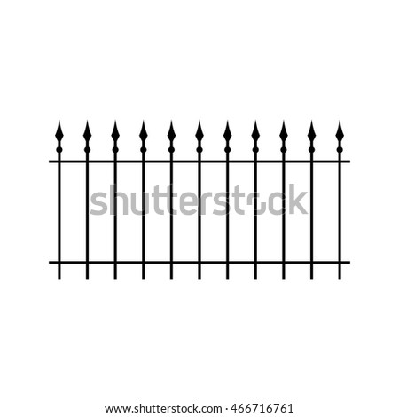 fence forged black vector