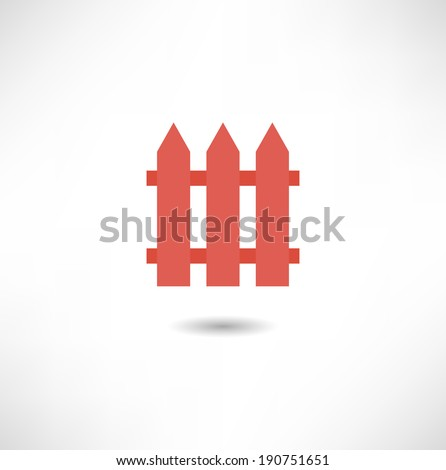 Fence icon - stock vector