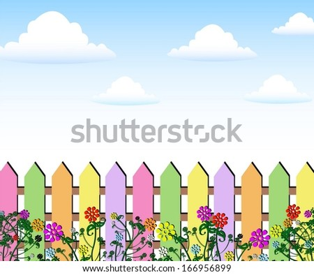 12841 Garden Fence Cliparts Stock Vector And Royalty
