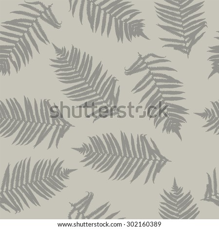 Fern seamless pattern.