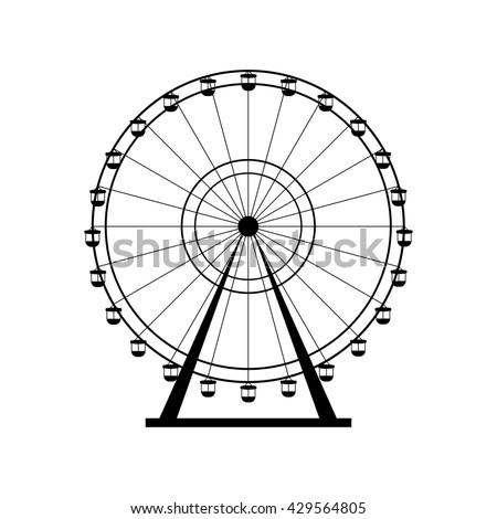 Ferris-wheel St... Ferris Wheel Vector Free Download