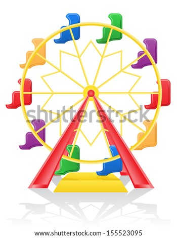ferris wheel vector illustration isolated on background - stock vector
