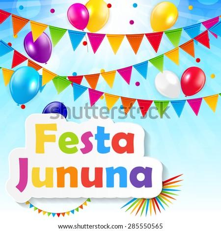 Festa Jinina Background Vector Illustration EPS10 - stock vector