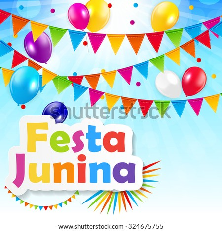 Festa Junina Background Vector Illustration EPS10 - stock vector