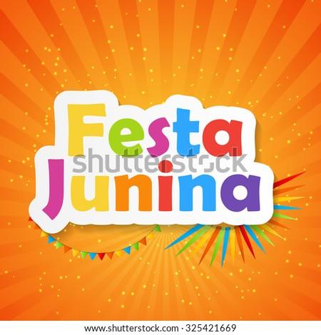 Festa Junina Background Vector Illustration EPS10 - stock vector