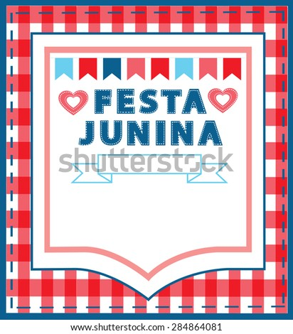 Festa Junina background with copy space vector. - stock vector