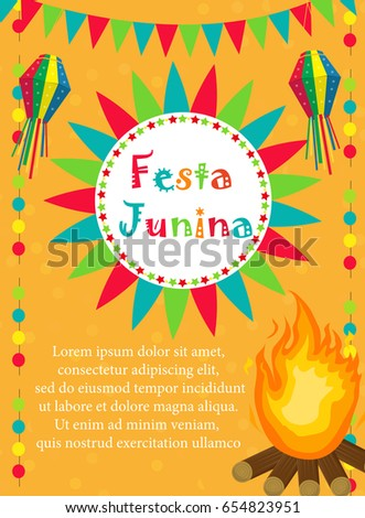 Festa junina greeting card invitation poster stock photo photo festa junina greeting card invitation poster brazilian latin american festival template for your stopboris Images