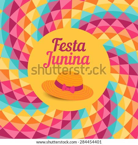 Festa Junina illustration - traditional Brazil June festival party - Midsummer holiday. Vector illustration. - stock vector