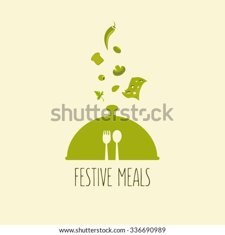 festival food gala dinner decoration for your design - stock vector