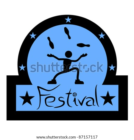 Festival sign - stock vector
