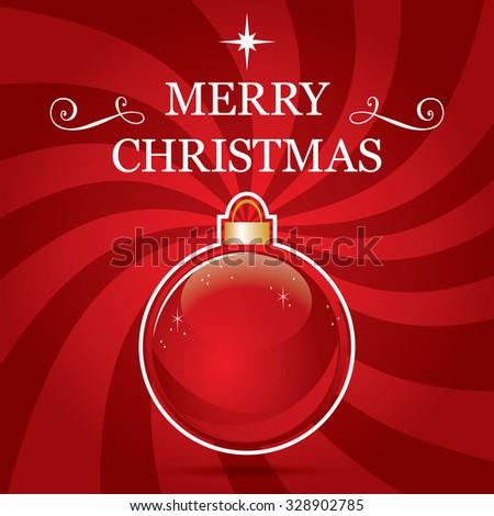 Festive and elegant Christmas greeting card - stock vector