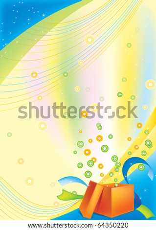 festive background with an open gift card