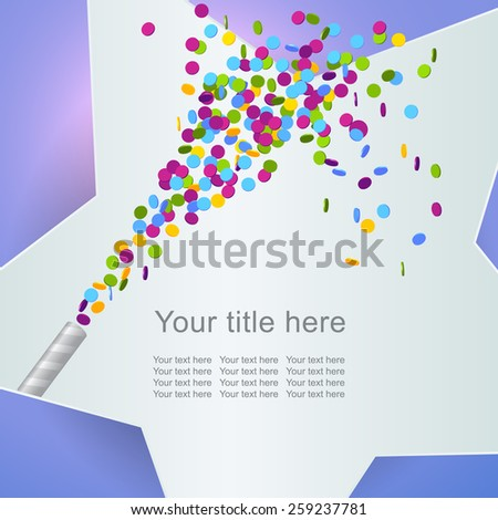 Festive background with colorful confetti, eps 10 - stock vector