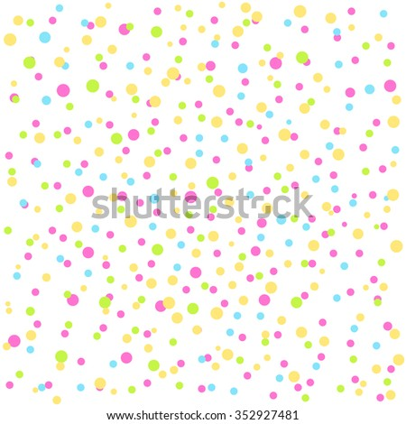 Festive background with confetti. Can be used as background for different celebrations: birthday, Easter, Christmas, New year, wedding, anniversary, party. Vector illustration.