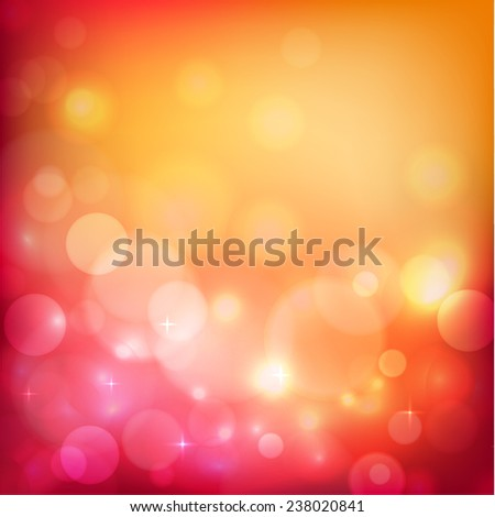 Festive background with defocused lights - eps10 - stock vector
