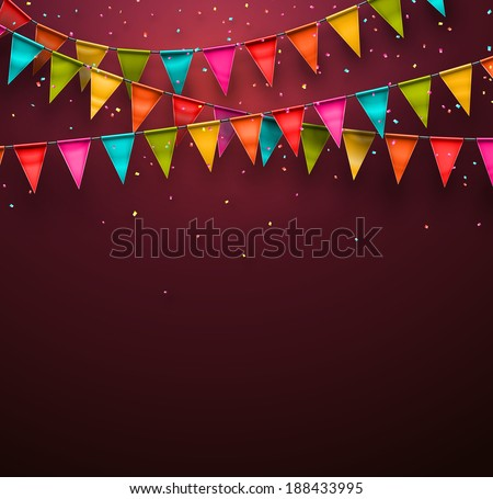 Festive background with flags, eps 10 - stock vector