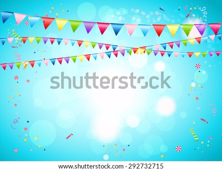 Festive background with flags for advertising, cards, invitation and so on. - stock vector