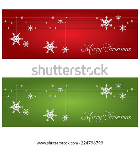 Festive banners. Christmas and New Year theme. - stock vector