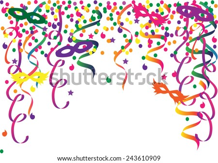 Festive carnival background vector - stock vector