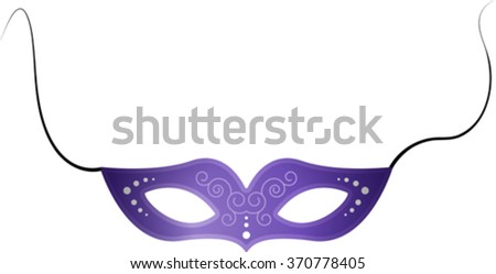 festive carnival mask with a pattern. EPS 10 - stock vector