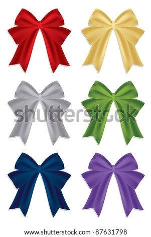 festive christmas ribbons isolated on white