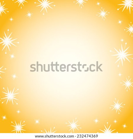 Festive gold background with stars,snowflakes