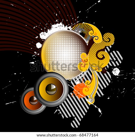 festive party in the grunge style - stock vector