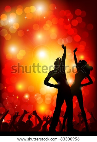 festive party in the nightclub - stock vector