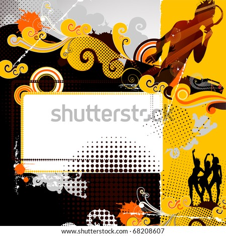 festive party in the nightclub with DJ - stock vector