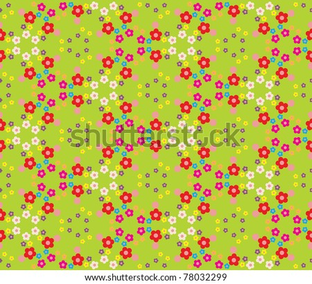 Festive pattern with hundreds of brightly colored flowers - stock vector