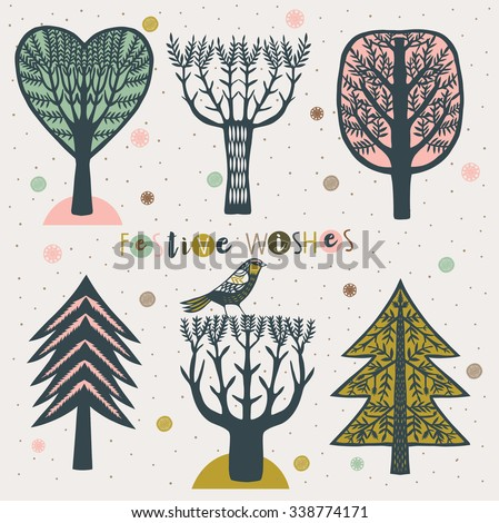 Festive Wishes. Print Design - stock vector