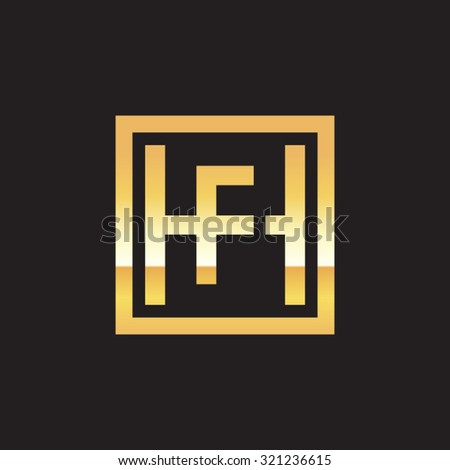 FH HF initial company, golden square frame