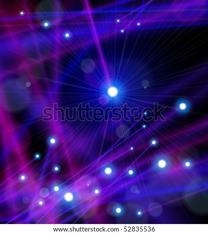 Fiber Optics Color Magical Lights. Vector illustration - stock vector