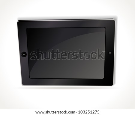 fictitious touch pad vector illustration