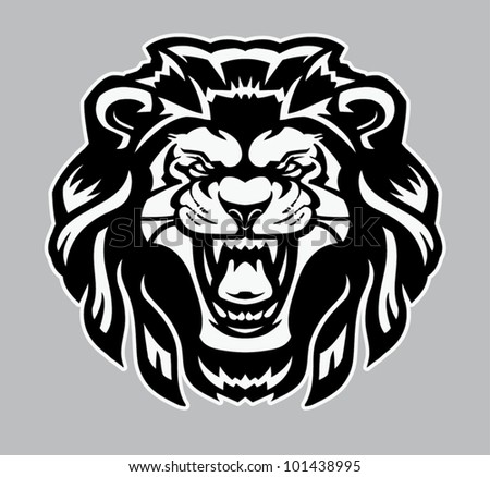 Fierce Lion - stock vector