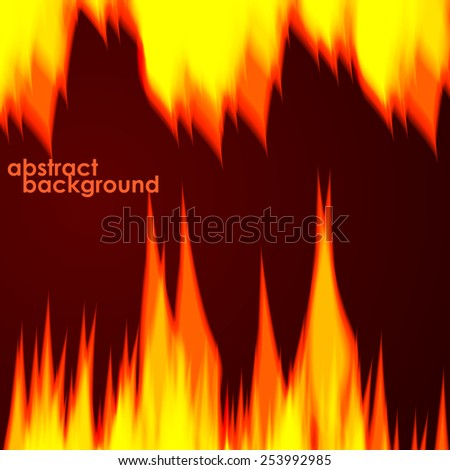 Fiery background. Vector illustration - stock vector