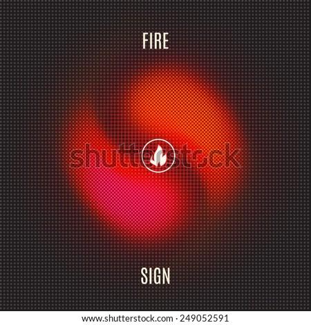 fiery mosaic vector sign - stock vector