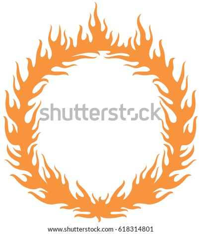 fiery ring burning hoop fire vector stock vector 618314801 rh shutterstock com Ring of Fire Clip Art Black and White Class Ring Clip Art