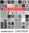 fifty original vector seamless pattern - stock vector