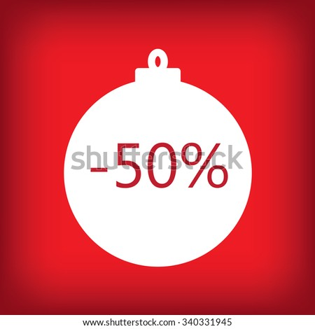 fifty percent sale sticker tag - stock vector