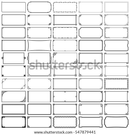 Fifty rectangle frames (set 2)