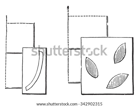 Fig No 971 Catechu board, Fig No 972 Green board, vintage engraved illustration. Industrial encyclopedia E.-O. Lami - 1875.