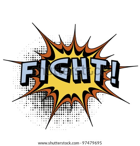 Fight. Comic book explosion. - stock vector