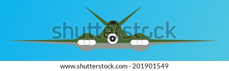 Fighter airplane - stock vector