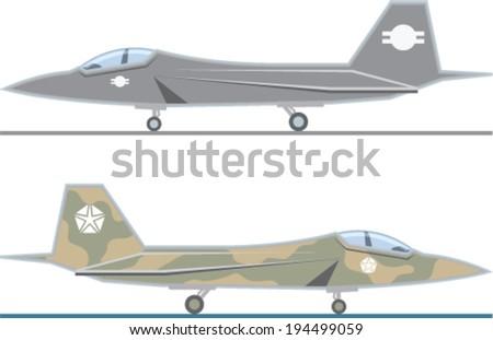 Fighter Jet vector - stock vector